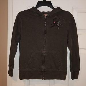Mossimo charcoal gray full zip hoodie, M(8/10)